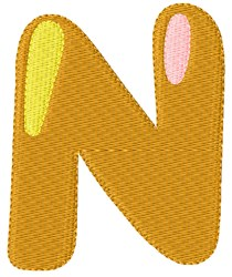 Bubble Letter N embroidery design