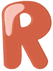 Bubble Letter R embroidery design
