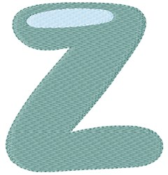 Bubble Letter Z embroidery design