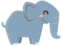 Elephant embroidery design
