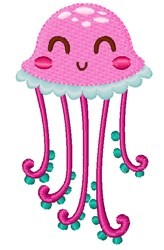 Jellyfish embroidery design