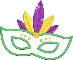 Mardi Gras Mask Applique embroidery design