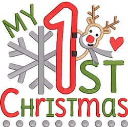 My 1st Christmas Applique embroidery design