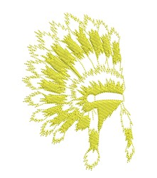 Headdress Outline embroidery design
