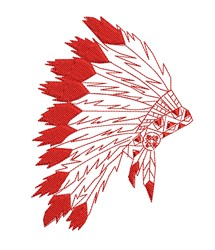 Red Headdress Outline embroidery design