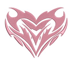 Tribal Heart Outlilne embroidery design