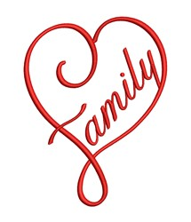 Family Love embroidery design