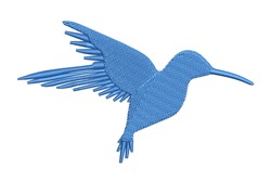 Blue Hummingbird Silhouette embroidery design