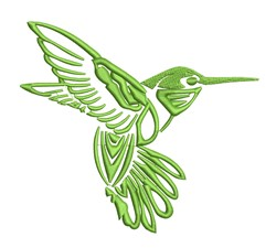 Pretty Hummingbird Outline embroidery design