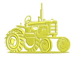 Old Tractor Outline embroidery design