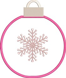 Snowflake Ornament embroidery design