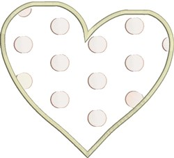 Polka Dot Heart embroidery design