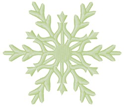 Green Snowflake embroidery design
