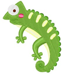 Iguana embroidery design