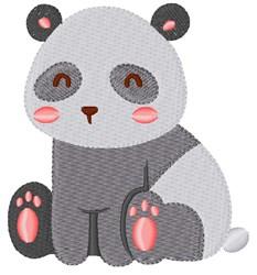 Panda embroidery design