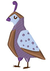 Quail embroidery design