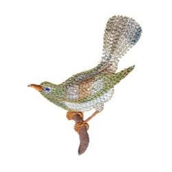 Variegated Bird embroidery design