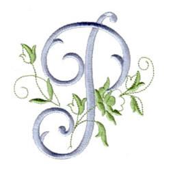 P Alphabet Design rose script p embroidery design rose script p embroidery design 5 00 1 ...