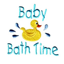 Baby Bath Time Embroidery Designs Machine Embroidery