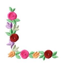 Bullion Flower Corner Embroidery Designs Machine