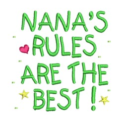 Nanas Rules embroidery design