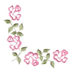 rose outline corner embroidery designs machine embroidery designs