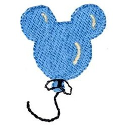 Mouse Balloon embroidery design