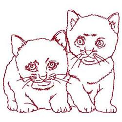 Redwork Kittens embroidery design