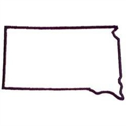 Oklahoma Embroidery Embroidery Design South Dakota Outline 2 47 Inches H X 4 00 Inches W
