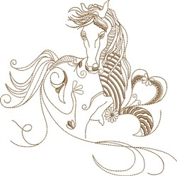 Fantasy Arabian embroidery design