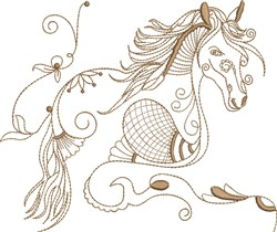 Fantasy Arabian Horse embroidery design
