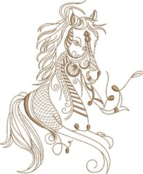 Fantasy Arabian Horse Portrait embroidery design