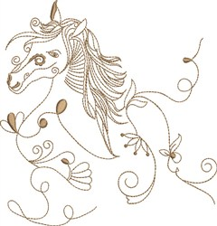 Fantasy Horse Head embroidery design