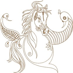 Fantasy Arabian with Fetishes embroidery design