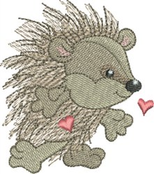 Hedgehog Sweetheart embroidery design