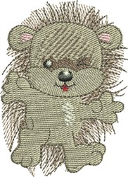 Hedgehog Winking embroidery design