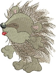 Naughty Hedgehog embroidery design