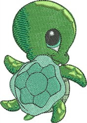 Shelly the Sea Turtle embroidery design