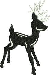 Baby Black & White Reindeer embroidery design
