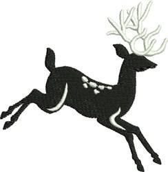 Black & White Reindeer embroidery design