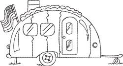 Camper Blackwork 5 embroidery design