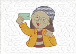 Cool Selfies Mug Mat 7 embroidery design