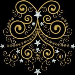 Holy Night Swirl embroidery design