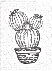 ITH Cactus to Color Quilt Blk 5 embroidery design