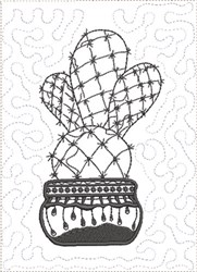 ITH Cactus to Color Quilt Blk 6 embroidery design