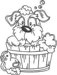 Dog Bath 1 embroidery design