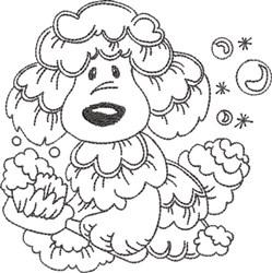 Dog Bath 6 embroidery design