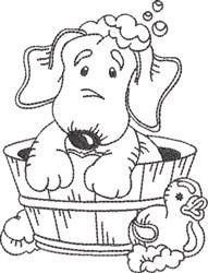 Dog Bath 7 embroidery design