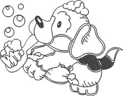 Dog Bath 10 embroidery design