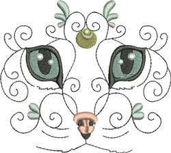 Glamorous Kitty embroidery design